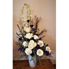 Purple and Cream Arrangement