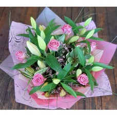 Pink Roses and Pink Lilies