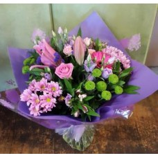 Purple and Pink Aqua Handtied