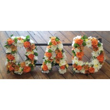 Mixed Flower Letters