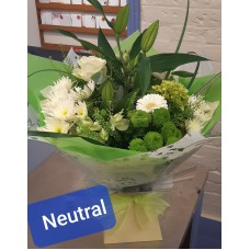 Neutral colour flowers