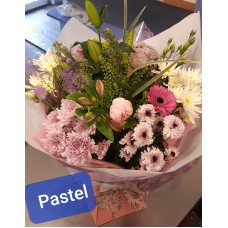 Pastel colour flowers