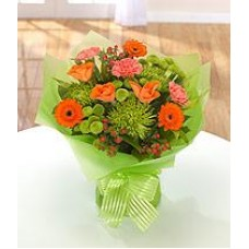 Orange and Green Aqua Handtied