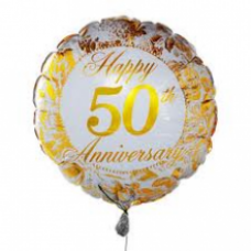 Gold Anniversary Balloon