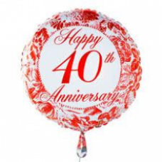 Ruby Anniversary Balloon