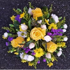 Yellow Purple and White Posy