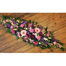 Pink and Purple Double Ended Coffin Spray
