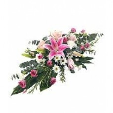 Pink Double Ended Coffin Spray