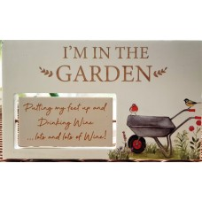 In The Garden Spinning Plaque