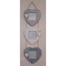 Heart Trio Photo Frame