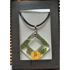 Necklace - Square yellow