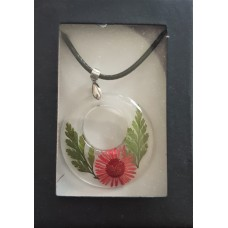 Necklace - Red Daisy