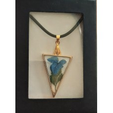 Necklace - Triangle Blue