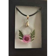 Necklace - Pink Daisy