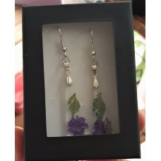 Earrings - Purple Flower