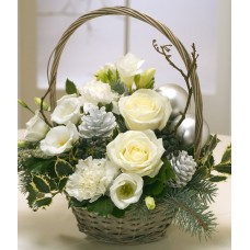 Christmas Basket White