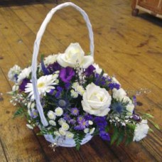 Purple Blue and White Basket