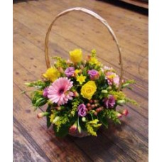 Yellow and Pink Basket